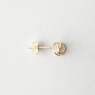 Garnish gold knot stud