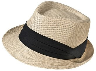 Merona Women's Straw Fedora Hat with Black Sash - Natural $12.99 thestylecure.com