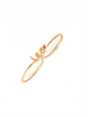 BaubleBar Gold Zodiac Knuckle Ring