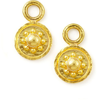 Elizabeth Locke 19k Gold Daisy Disc Earring Pendants