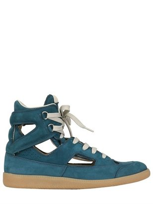 Maison Martin Margiela 20mm Cut Out Leather Sneakers