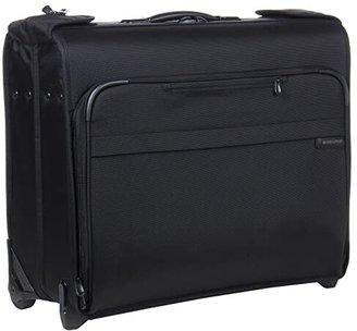 Briggs & Riley Baseline Deluxe Wheeled Garment Bag (Black) Luggage