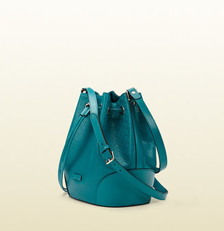 Gucci Bright Diamante Leather Bucket Bag