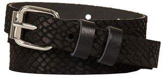 Topshop Snake Embossed Leather Belt