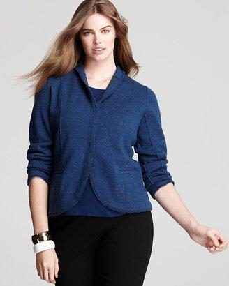 Eileen Fisher Plus Merino Double Knit Shaped Jacket