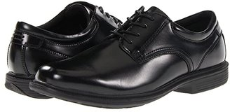 Nunn Bush Baker Street Plain Toe Oxford with KORE Slip Resistant Walking Comfort Technology (Black) Men's Plain Toe Shoes