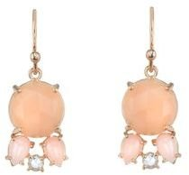 Irene Neuwirth Peach Moonstone Earrings with Rose Cut Diamonds - Rose Gold