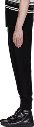 Neil Barrett Black Low-Rise Cropped Lounge Pants