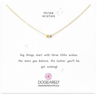 Dogeared Three Wishes Necklace, 16""