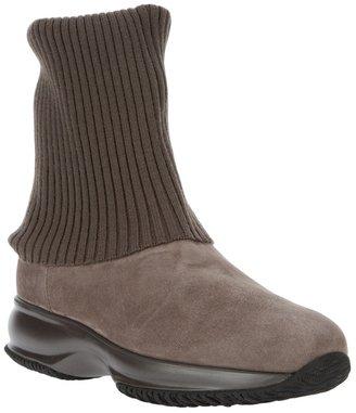 Hogan Ribbed cuff boot