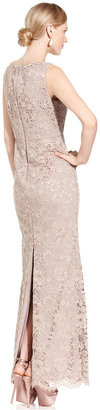 Adrianna Papell Dress, Sleeveless Lace Gown