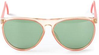 Christian Dior Pre Owned transparent frame sunglasses