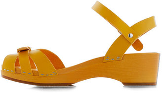 Swedish Hasbeens Your Cheerful Nature Heel in Yellow