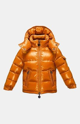 Moncler 'Maya' Hooded Down Jacket (Toddler Boys, Little Boys & Big Boys)