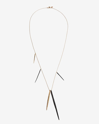 Alexis Bittar 20th Anniversary Capsule Collection Exclusive Crystal Encrusted Long Spear Necklace