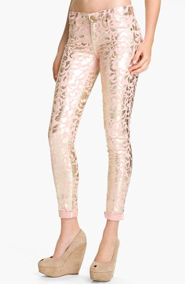 7 For All Mankind 'The Skinny' Foil Print Jeans