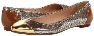Kate Spade Terry (Gold Specchio/Gold Bristol Metal Print Leather) - Footwear