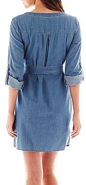 JCPenney a.n.a® Long-Sleeve Denim Shirt Dress