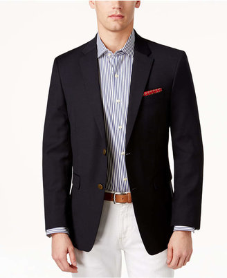 Tommy Hilfiger Classic-Fit Solid Navy Blazer $295 thestylecure.com