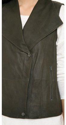 Vince Paper Leather Vest