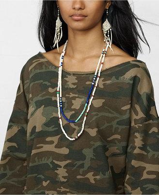 Denim & Supply Ralph Lauren Long-Sleeve Camo-Print Slouchy Sweatshirt