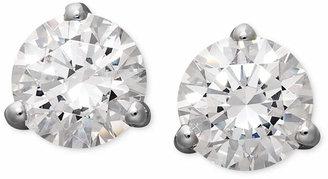 Arabella 14k White Gold Earrings, Swarovski Zirconia Round Stud Earrings (4-1/4 ct. t.w.)
