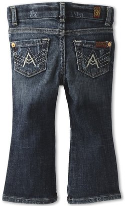 7 For All Mankind Kids - Girls' A-Pocket Jean in Rich Dark Destroyed (Infant) (Rich Dark Destroyed) - Apparel