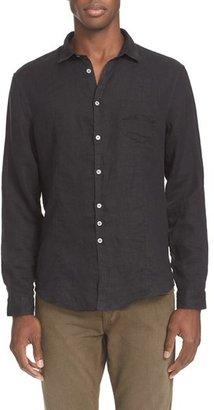 Men's John Varvatos Collection Slim Fit Linen Sport Shirt $198 thestylecure.com