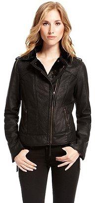 HUGO BOSS Orthia-W Faux Leather Jacket - Black
