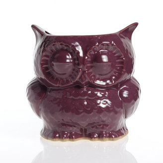 claylicious Owl Planter Large Purple