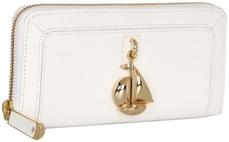 Juicy Couture Leni Charm Zip Wallet (White) - Bags and Luggage