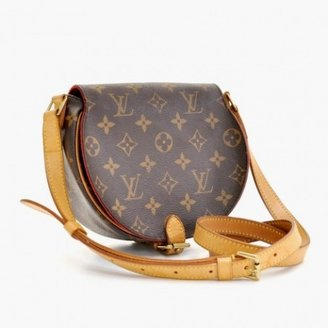 Louis Vuitton very good (VG Tambourine Brown Monogram Canvas Shoulder Bag