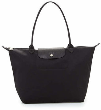 Longchamp Le Pliage Neo Large Nylon Shoulder Tote Bag, Black