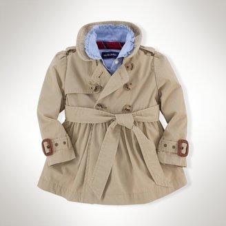 Full-Skirt Cotton Trench Coat