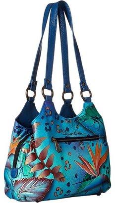 Anuschka 469 Triple Compartment Medium Satchel Handbags