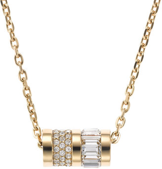 Michael Kors Pave Barrel Pendant Necklace, Golden