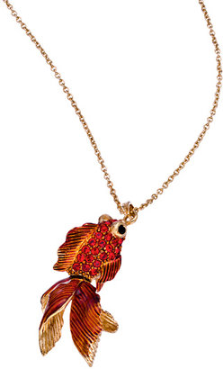 Andrew Hamilton Crawford Coy Fish Pendant Necklace