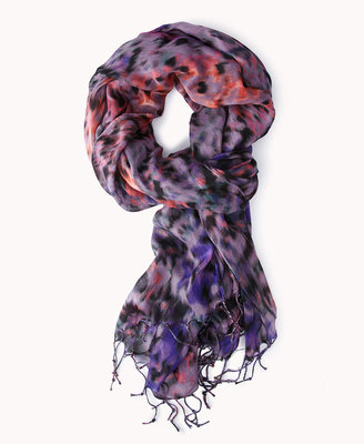 Forever 21 Multi-Colored Leopard Scarf