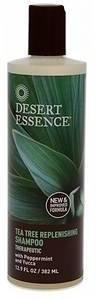 Desert Essence Tea Tree Replenishing Shampoo with Peppermint and Yucca