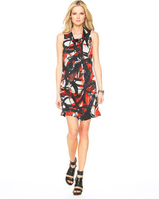 Michael Kors MICHAEL Siam Watercolor-Print Dress