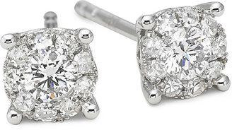 JCPenney FINE JEWELRY Brilliant Dream 1/3 CT. T.W. Round Diamond Stud Earrings 14K White Gold