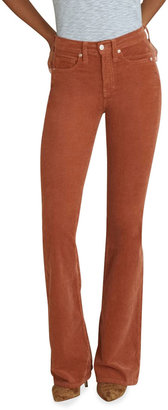 Veronica Beard Jeans Beverly Corduroy High-Rise Flare Pants