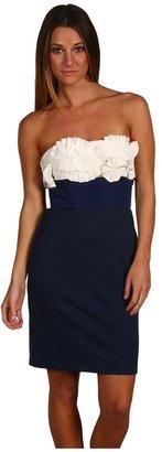 BCBGMAXAZRIA Stretch Satin Dress (Carbon) - Apparel