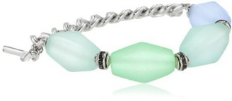 "Kenneth Cole New York ""Urban Sea Glass"" Faceted Bead Half Stretch Bracelet"