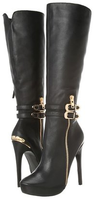 Steve Madden Keyshia Cole - Wondr (Black Leather) - Footwear