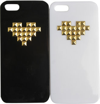 Wet Seal 2 Pack Heart Studded iPhone 5 Case
