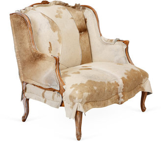 Tigerlily One-of-a-Kind Cowhide Settee