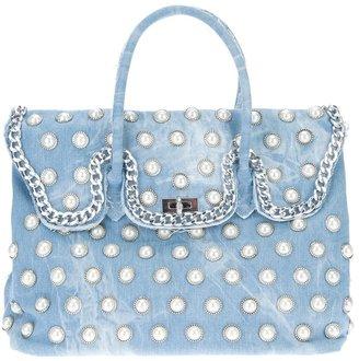 Mia Bag pearly denim chain handbag