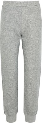 The Row Azila Grey Cotton And Cashmere-blend Sweatpants