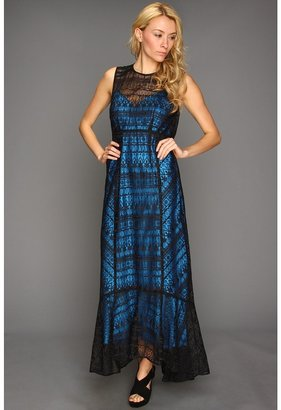 Nanette Lepore Appaloosa Dress (Black/Blue Sky) - Apparel
